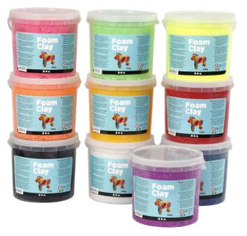 Foam Clay, 10x560 g, standard farver