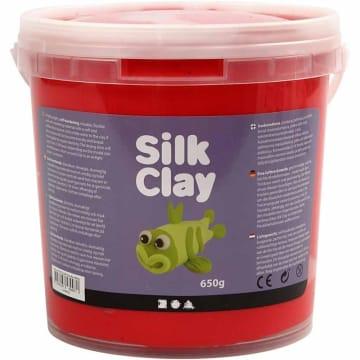 Silk Clay, 650 g, rød