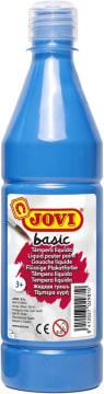 Basic poster maling, 500 ml., cyan(blå)
