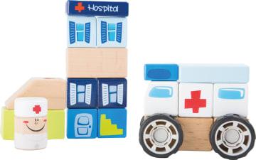 Byggesett i tre, sykehus med ambulanse