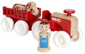 BRIO Traktor med tilhenger