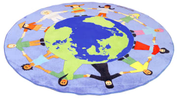 Multikulturelt teppe, ekstra kraftig,  Ø:200 cm