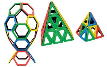 Magnetisk Polydron, 6-kant og 3-kant, 52 deler