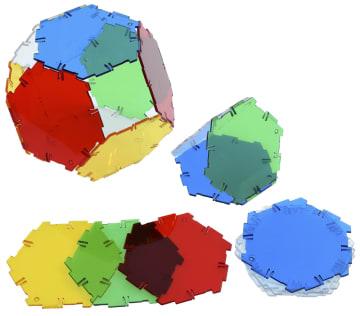 Crystal Polydron hexagon, 20 deler