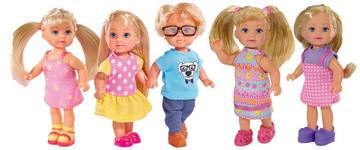 Store dukkehusdukker, barn, 5 ass 12cm