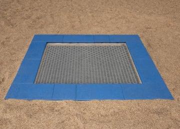 Trampoline 1,5 x 1,5 m for nedgraving