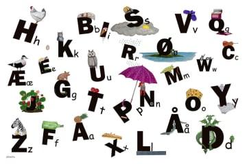 Læringsmotiv, Alfabetet (180 x 120 cm)