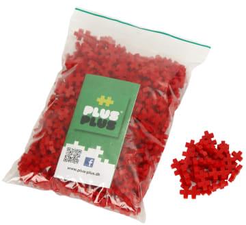 Plus-Plus mini, Basic, Rød, 500 stk