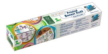 Banner roll. selvklebende papir m/motiv, 30 cm.x 4 m.Eventyr