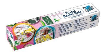 Banner roll. selvkl.papir m/motiv, 30 cm.x 4 m. prinsesser
