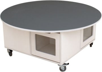 Milas mobilt lekebord med støydempende rund topplate