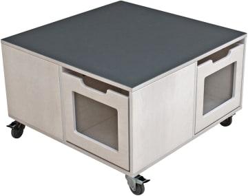 Milas mobilt lekebord med støydempende firkantet topplate