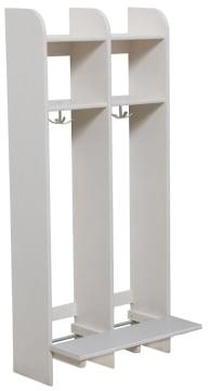 Milas Lux Garderobe 25cm m/benk 2plasser