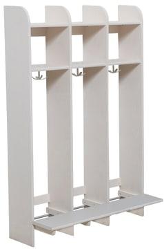 Milas Lux Garderobe, med benk, 3 plasser (30cm)