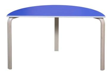 Bord, halvbue 60x120cm med marmoleum