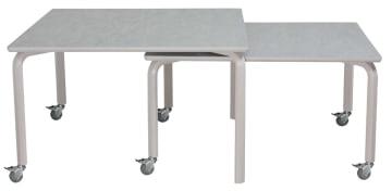 Innskuddsbord 120x120cm og 120x100cm, Linoleum på bordplate