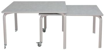 Innskuddsbord 120x120 cm og 120x100 cm, Decibel på bordplate