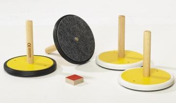 Innendørs curling  4 stener i to farger
