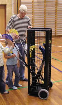 Vogn til hockeykøller m.m.