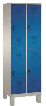 Garderobeskap 2 søyler -4 skap  MÅL B-H-D 610x1850x500 mm.