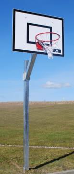Basketballstativ  Glassfiberplate, kurv og nett