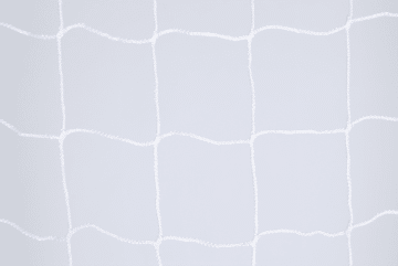 Fotballnett, 4 mm PP, Knuteløs  D:80/200, 120mm masker, Hvit