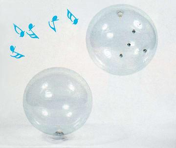 Ball klokke Ø55
