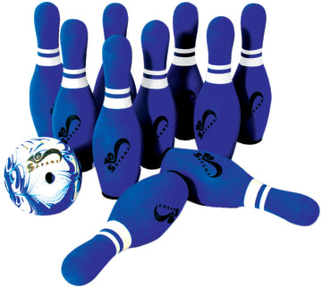 Bowling sett i skum - stor  10 kjegler + 2 kuler