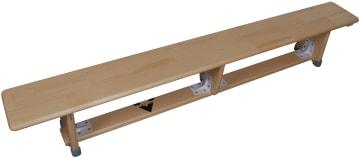Gymnastikkbenk 200 cm  med balansebom