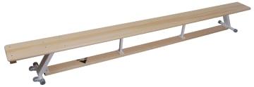Gymnastikkbenk med hjul  m/ metall ben 3 meter