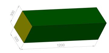 Bjelke 120x30x30 cm.  PU-25KG