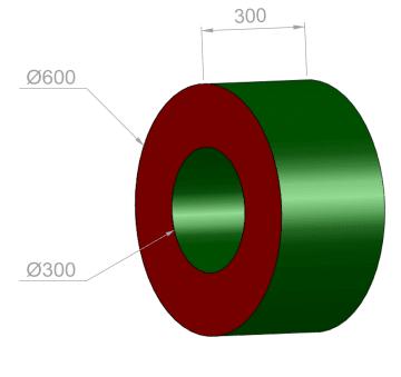 Hjul liten Ø: 60 cm  PU-25KG