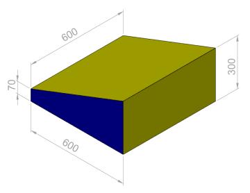 Kile 60x60x30/7 cm.  PU-25KG