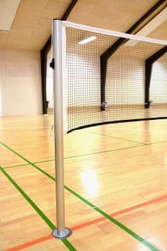 Badmintonstolper med nettspor  Ø63 - For hylse 63,5 cm