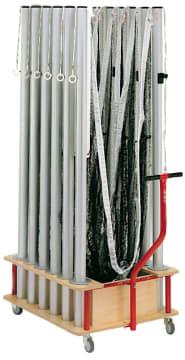 Badmintonvogn for utstyr til 6  L123 x B73 x H99 cm.