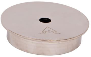 Deksel, Ø90 x 21 mm, rustfri  Til fotballvanter