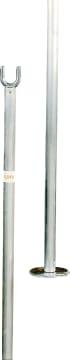 Singlestolper aluminium  Eloxert - L107 cm