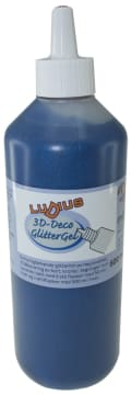 Ludius glitterlim 500ml. blå