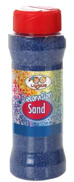 Farget dekorasjonssand 275 gr. blå