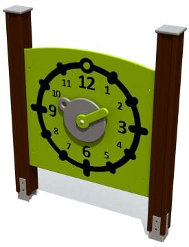 Lekevegg, klokke