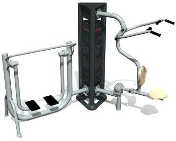 Utendørs fitness apparat 3D sett C