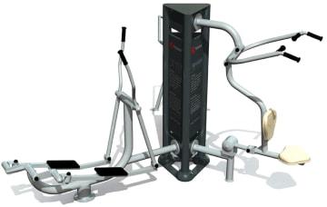 Utendørs fitness apparat 3D sett D