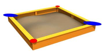 Sandkasse 3 x 3 meter, standard