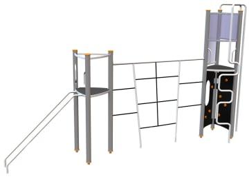 Octo klatrestativ m/2 plattformer
