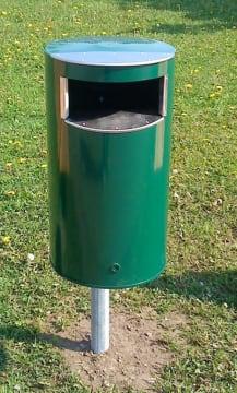 Søppelkasse, 60 l, inkl.stolpe