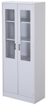 Skap med glassdører 80 x 40 x 203 cm/lås