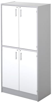 Garderobeskap med 4 dører