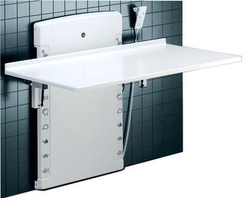 Lavtgående, oppfellbart stellebord u/vask. 80 x 140 cm