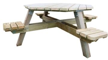 Oktagon bord 4+4, voksen