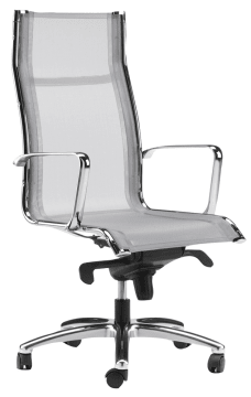Skynet kontorstol m/armlene, lys grå